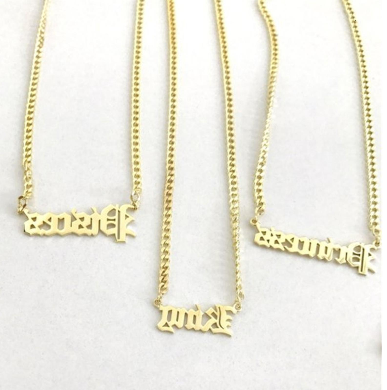 Personalized Name Chain Old Custom Gift