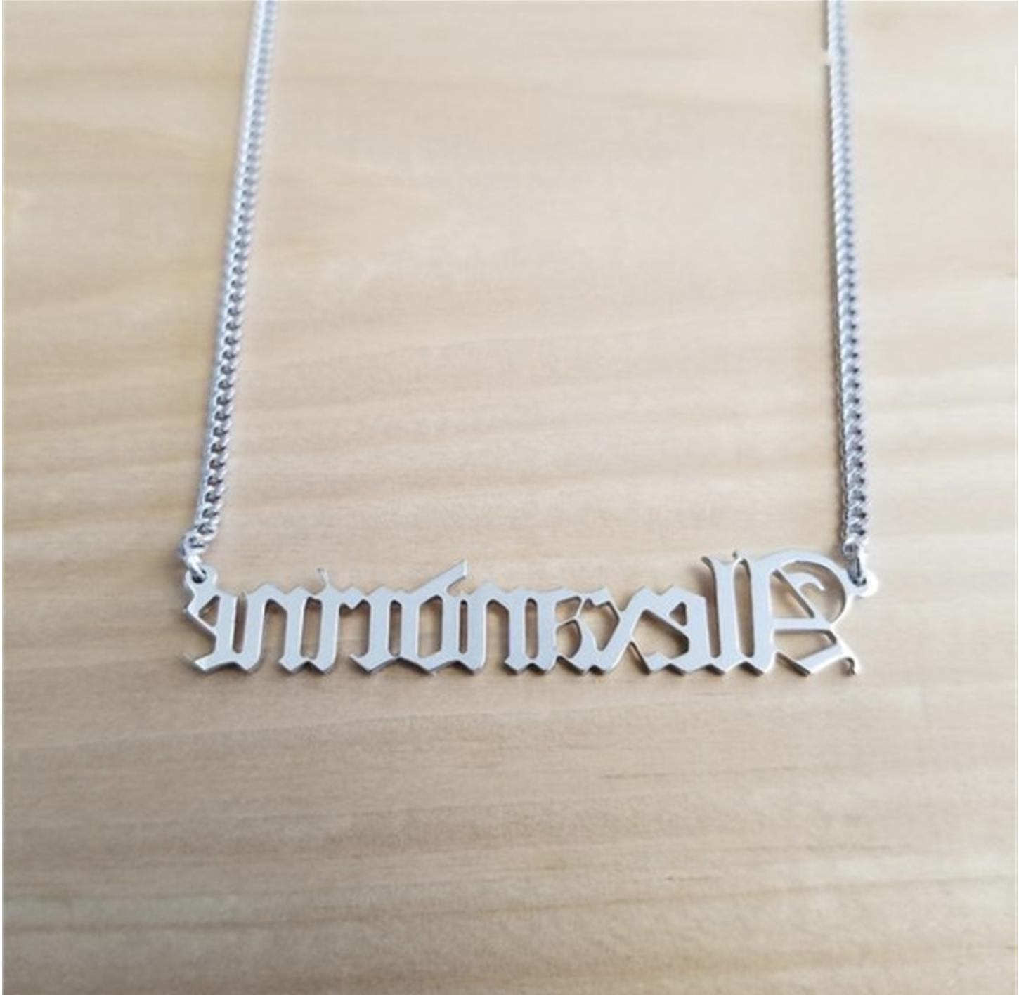 Personalized Name Chain Old English Custom Gift