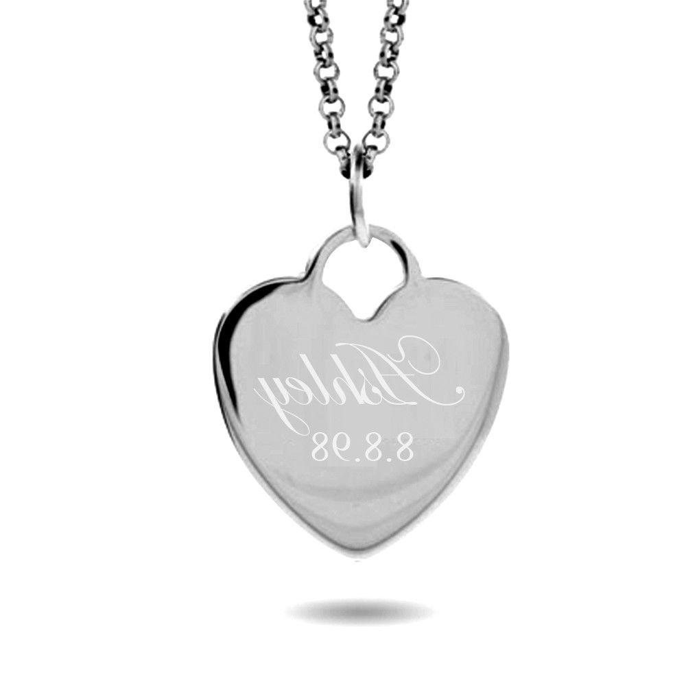 Personalized Heart Necklace Stainless Steel