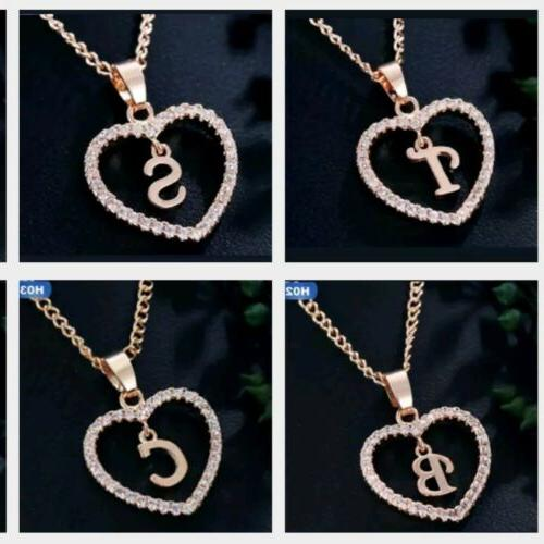 personalized name initial letter necklace rose gold