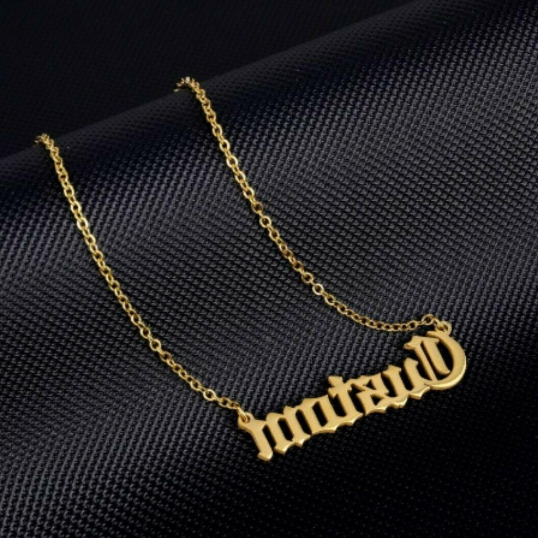 personalized name necklace chain custom style font