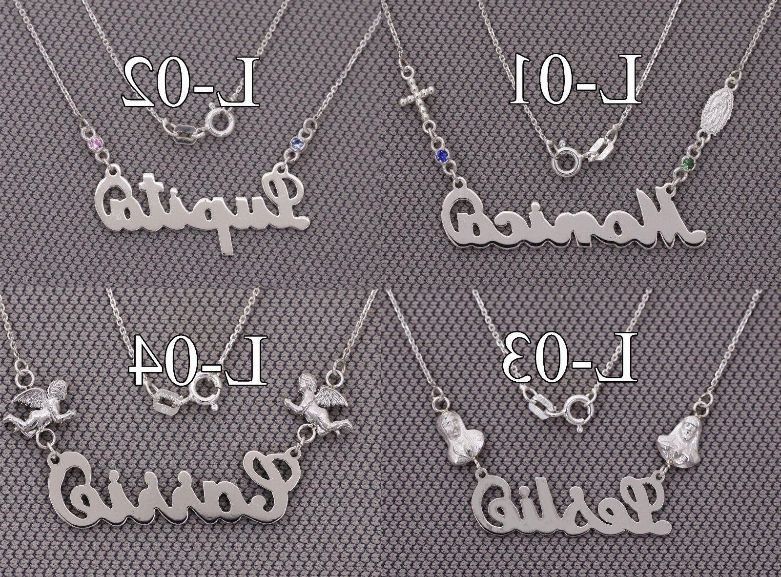 Personalized Name 925 Sterling with ITALY chain N Series