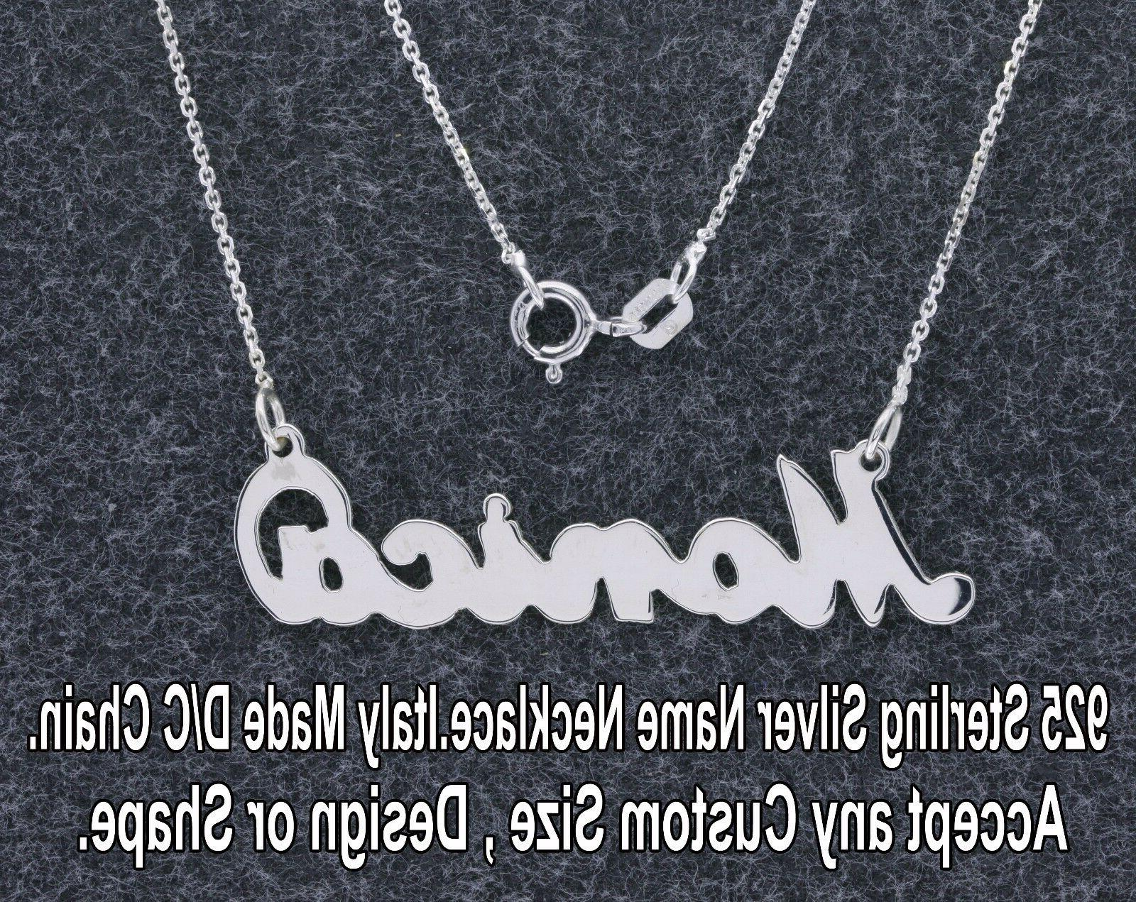 personalized name necklace in 925 sterling silver