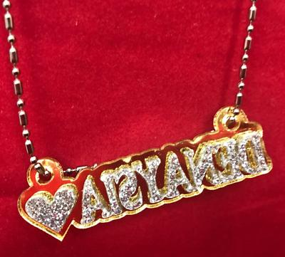 Personalized Name Plate Custom Name Necklace Nameplate Name