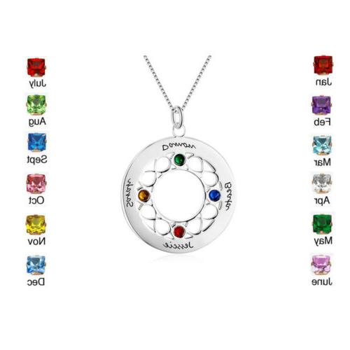 Personalized Names Birthstones Necklace Girls Necklaces For Sisters