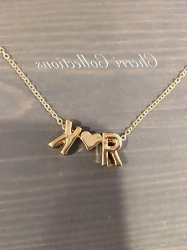 personalized necklace custom name 2 initial couple