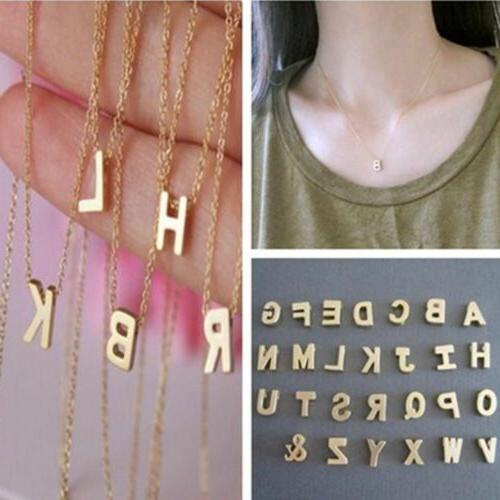 Initial Letter Necklace Name Jewelry For Women Girls Chain G