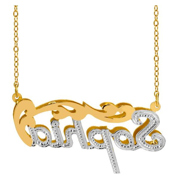 Personalized Gold Double Necklace + Chain STYLES