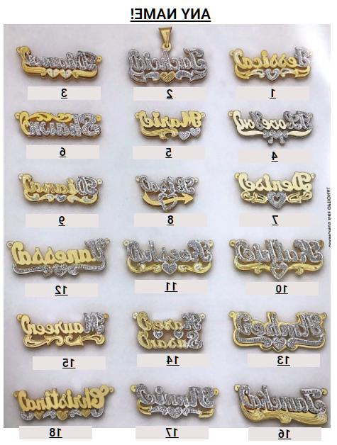 personalized silver and gold script double any