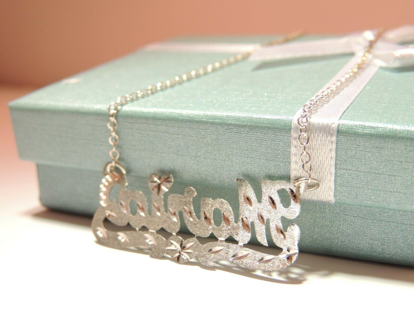 Personalized Necklace Sterling with