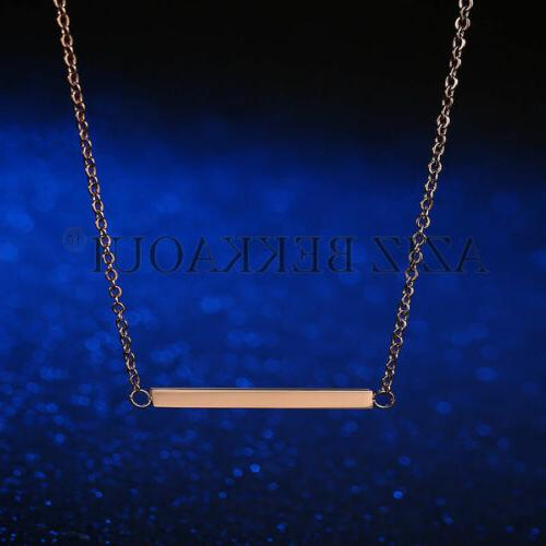 Personalized Stainless Steel Name Necklace Date Pendant
