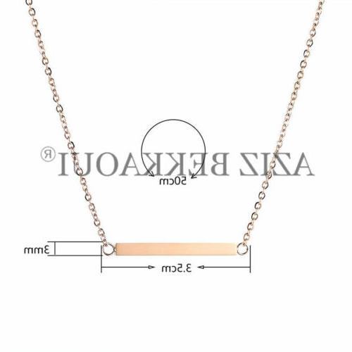 Personalized Steel Name Bar Necklace Date