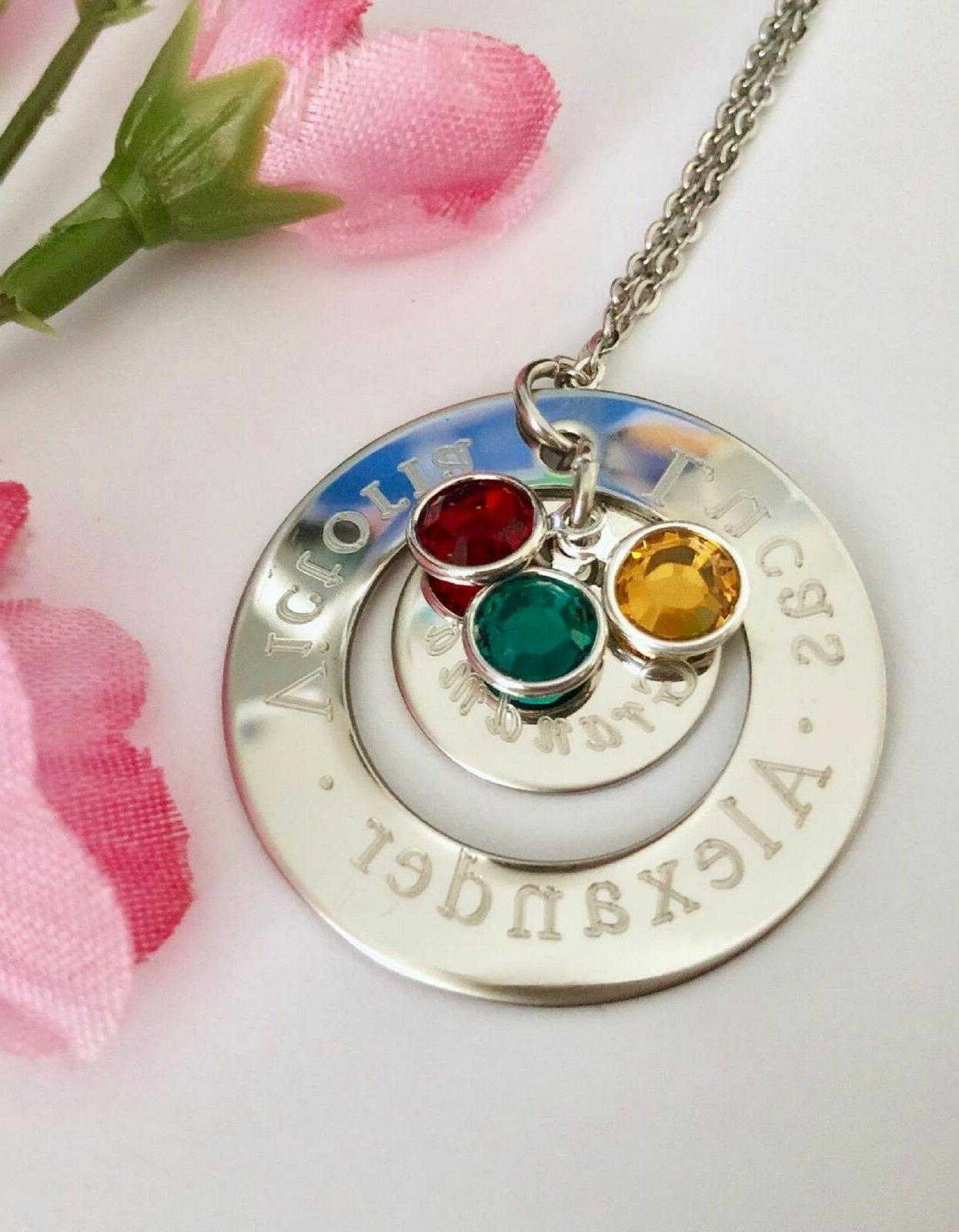 Personalized stainless Necklace Gift Grandma/mom/nana