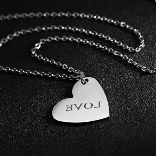 Personalized Stainless Name Engraved Pendant Chain Necklace Custom