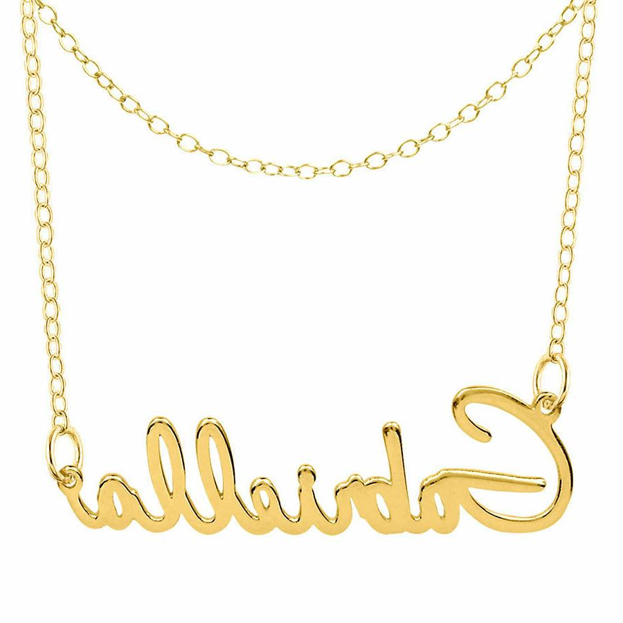Personalized Silver Chain Necklace