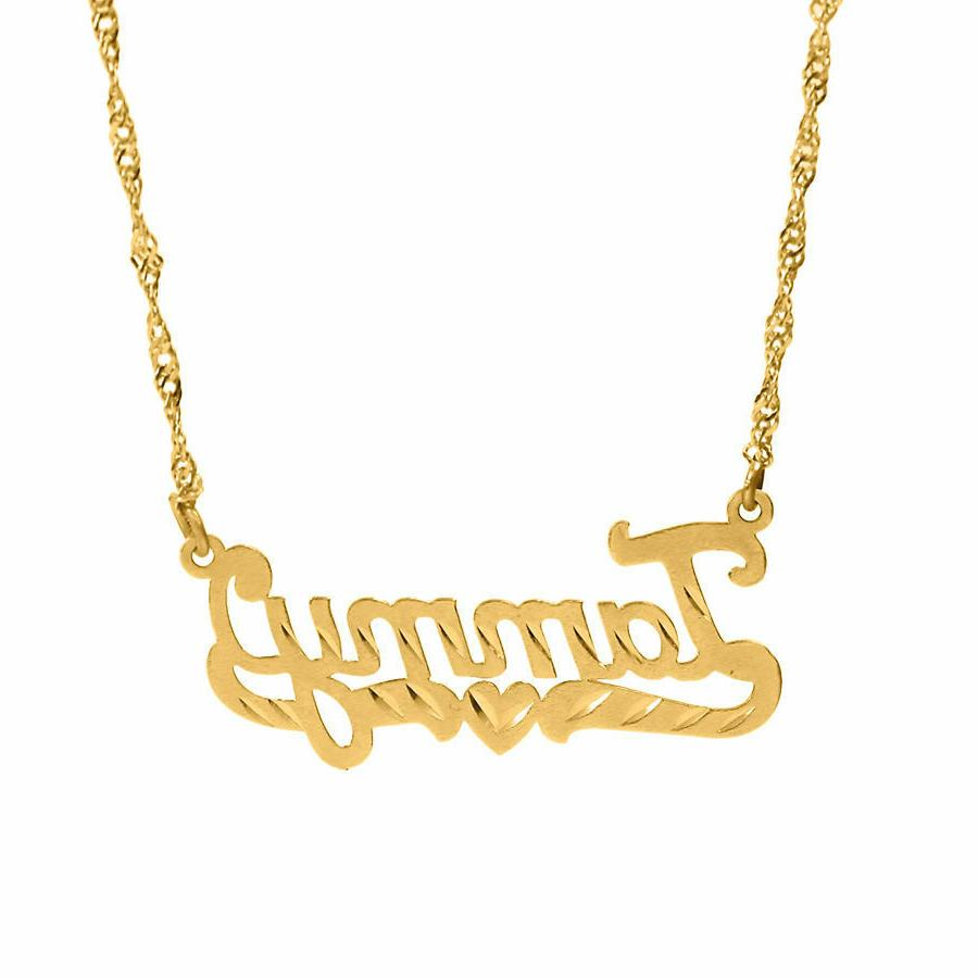 Personalized Sterling Silver 14KGold Any Chain 24Styl