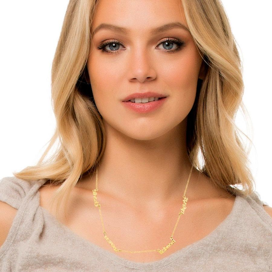 Personalized Gold Mini Plate Necklace