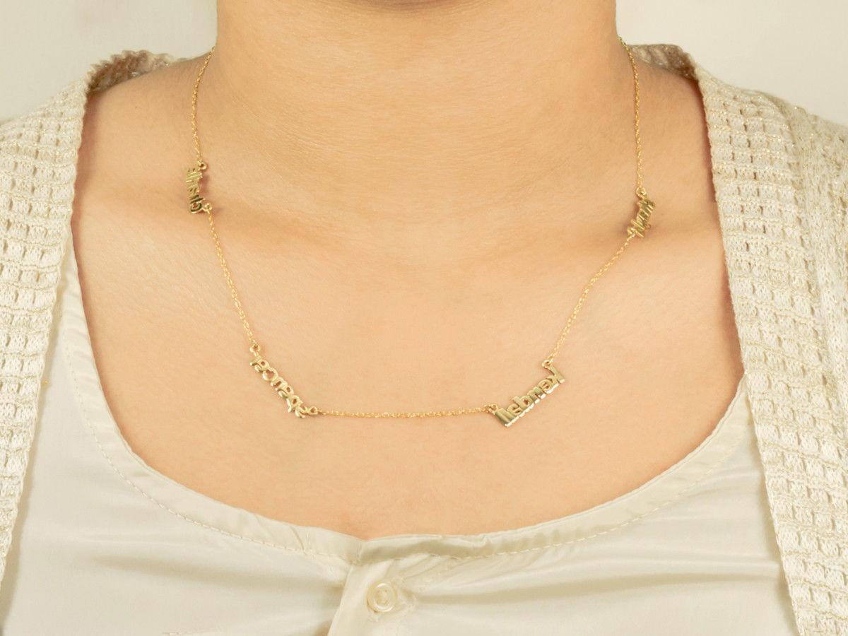 Personalized Sterling Silver Gold Necklace Any Name