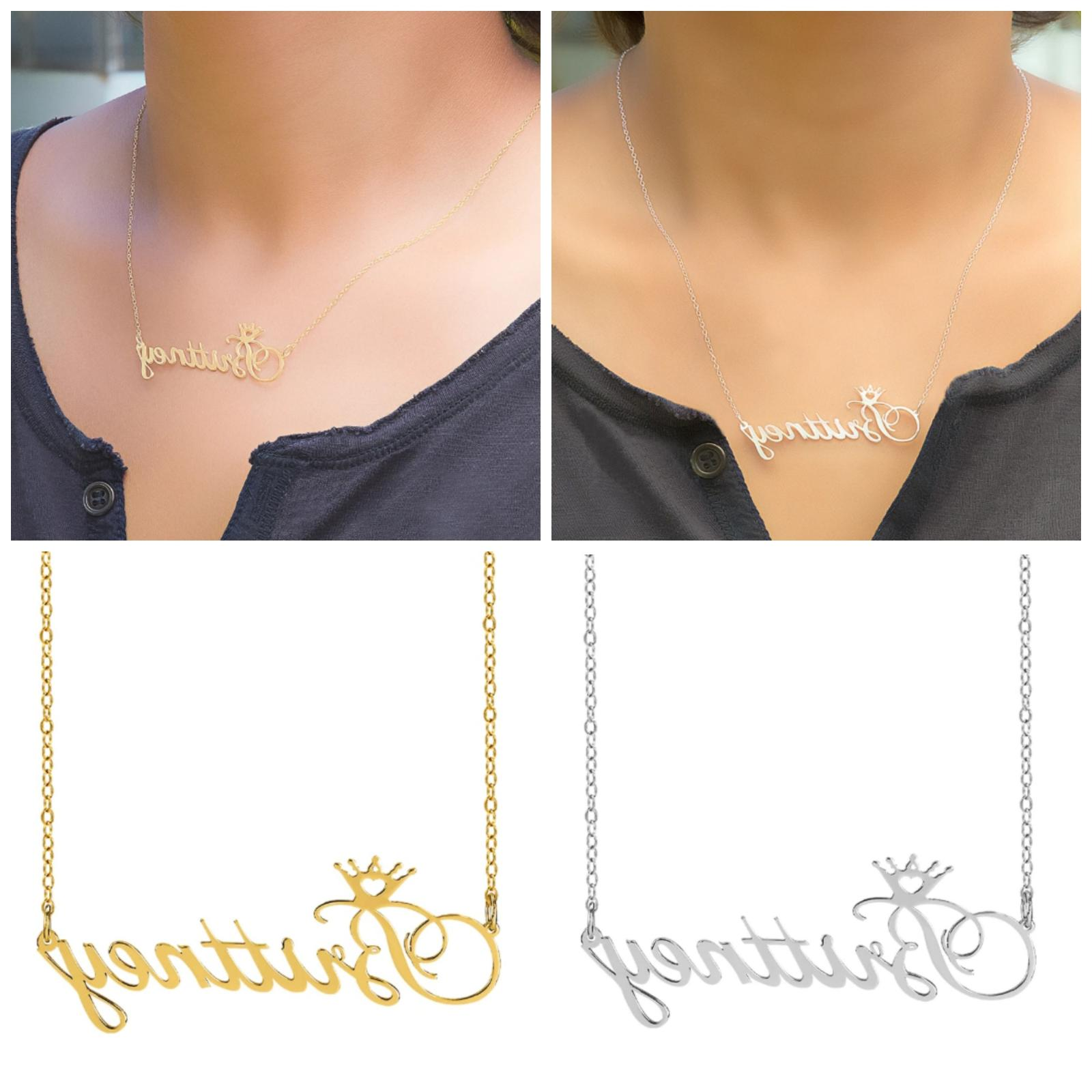 personalized sterling silver gold any name plate