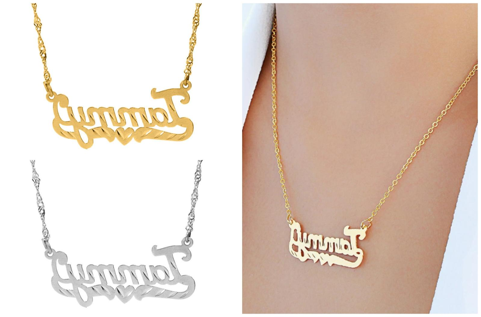 personalized sterling silver script any name plate