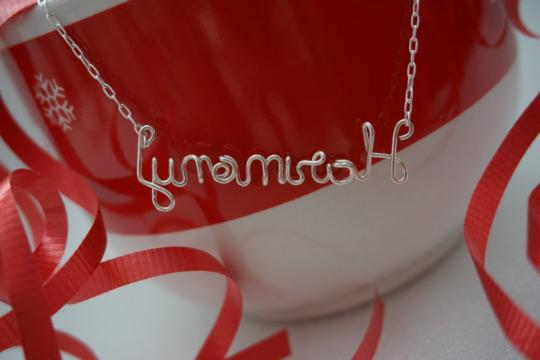 personalized wire name necklace custom name necklace