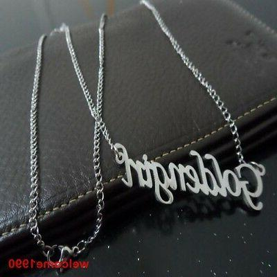 Pick Styly Fashion NAME Pendant Necklace Stainless Steel in