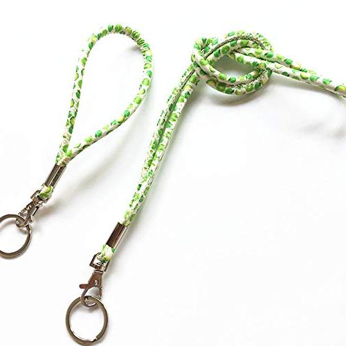 Necklace Lanyard Wristlet Strap with and Key Ring for Key, Whistle,ID Name Badge Holder, Business Card, Cell Camera