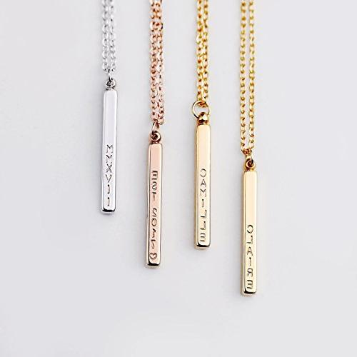Her 4 Name Bar Necklace Jewelry Necklace Mother's Gifts for -