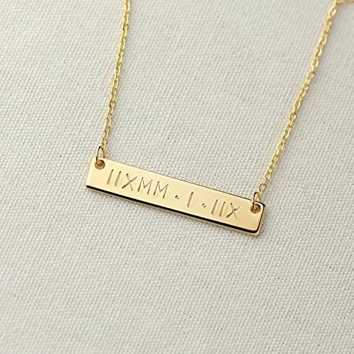 Custom Engraved Mom Christmas Gift Women Birthday Wedding Name Necklace Nana Necklace