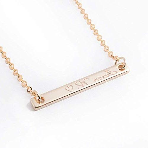 ❤️Best Day Gift For Him Personalized Bar necklace 16k Gold Silver Rose gold -Plated Boy Necklace and SHIPPING
