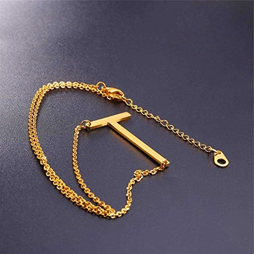 U7 Necklaces Big Name 18K Monogram Necklace for Gift