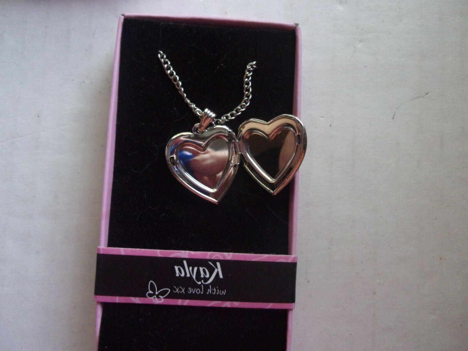 Silver Colored Heart Personalized Name Photo Necklace
