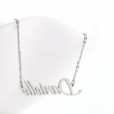 Stainless Initial Name Necklace Gift ,