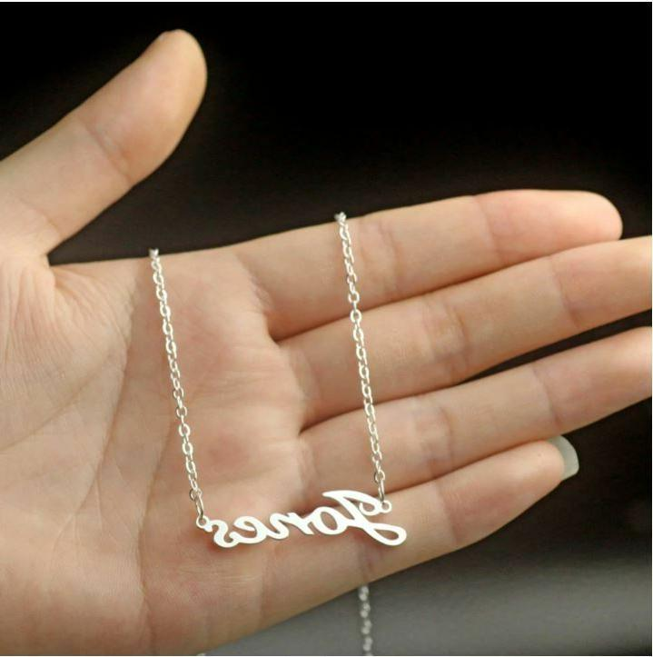stainless name personalized gift for her