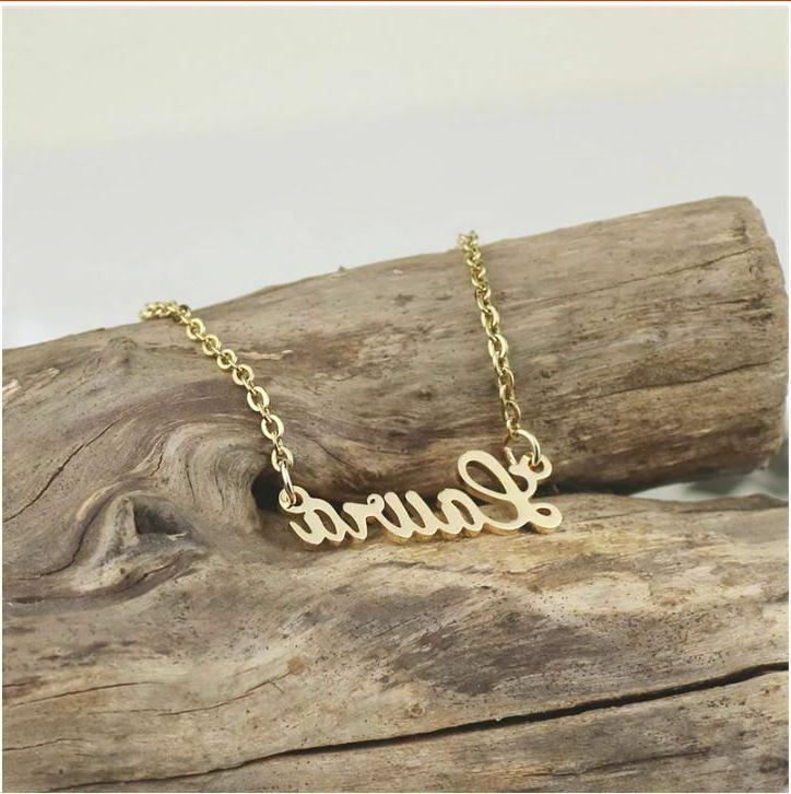 stainless gold name gift