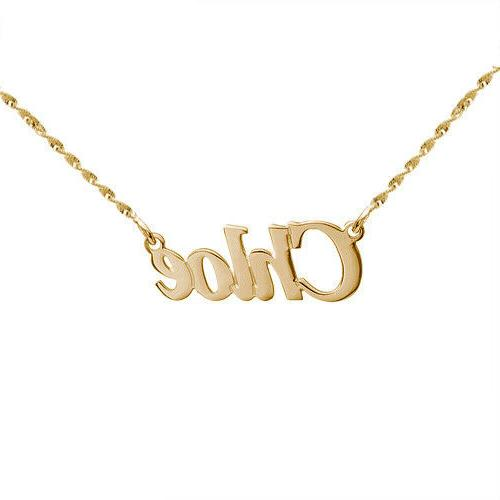stainless steel gold name personalized gift
