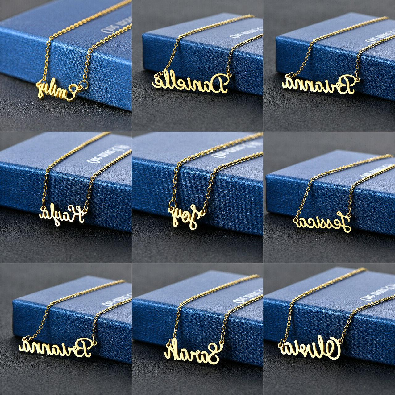 stainless steel lettering letters pendant chain name