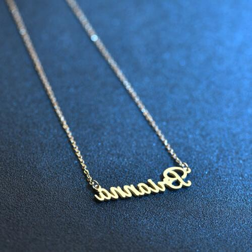 Stainless Steel Lettering Name Golden Jewelry
