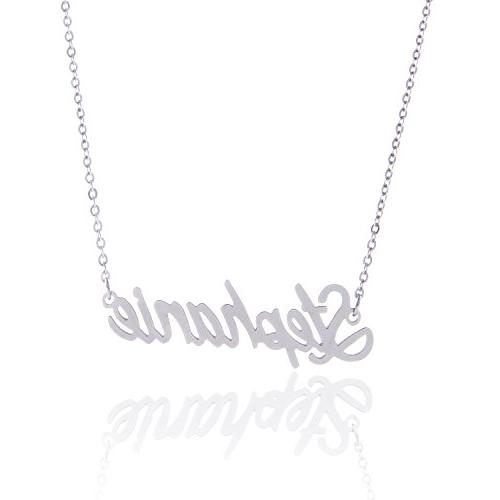 stainless steel tiny personalized stephanie name necklace
