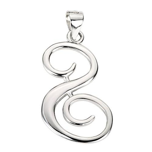 sterling silver letter s classic script initial