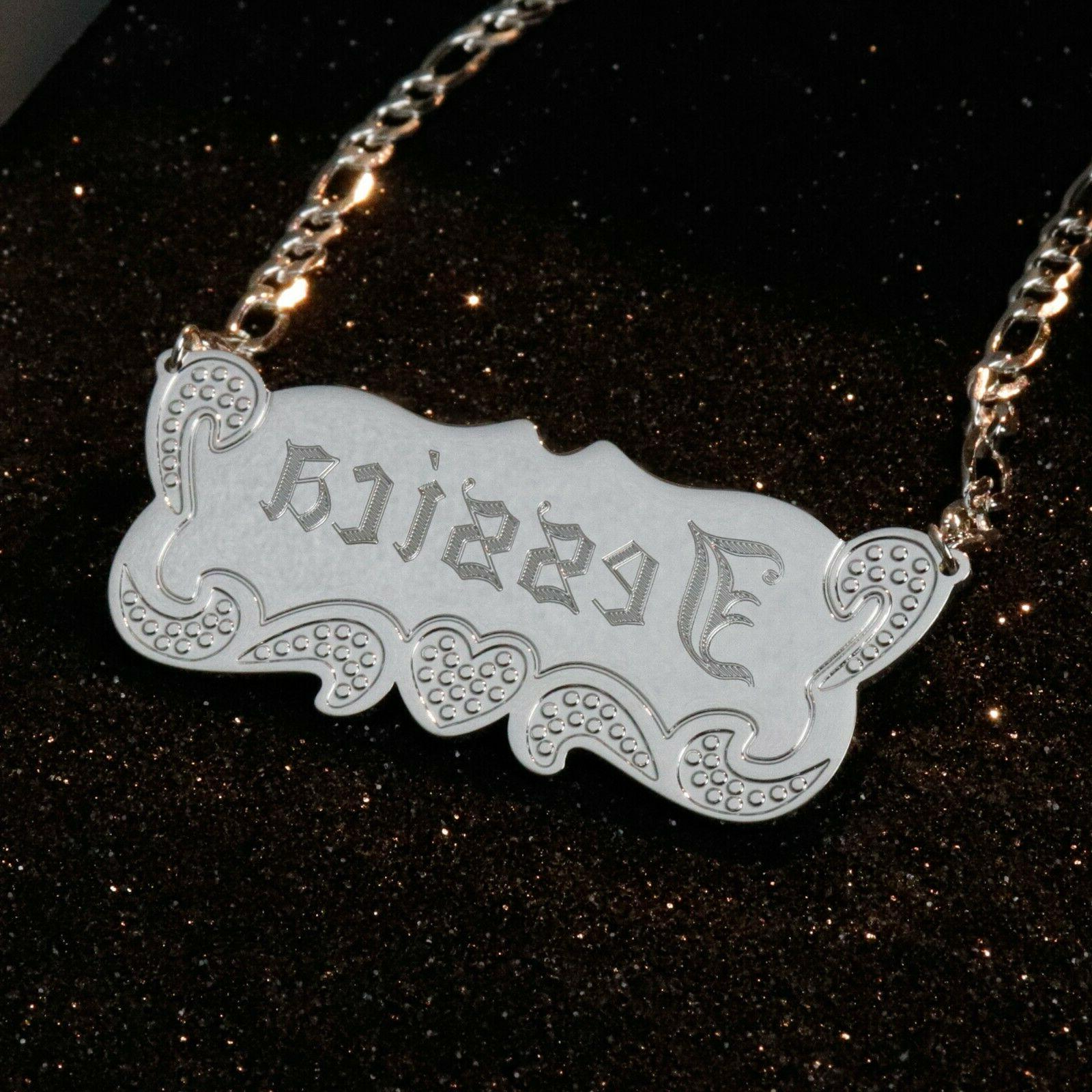 Sterling Silver Personalized Name Necklace Pendant