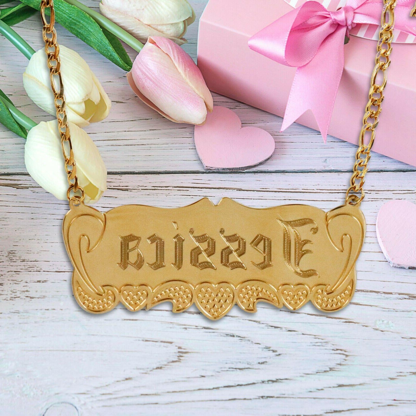 TINA&CO 14K GOLD PLATED NAME 14 STYLES NAME