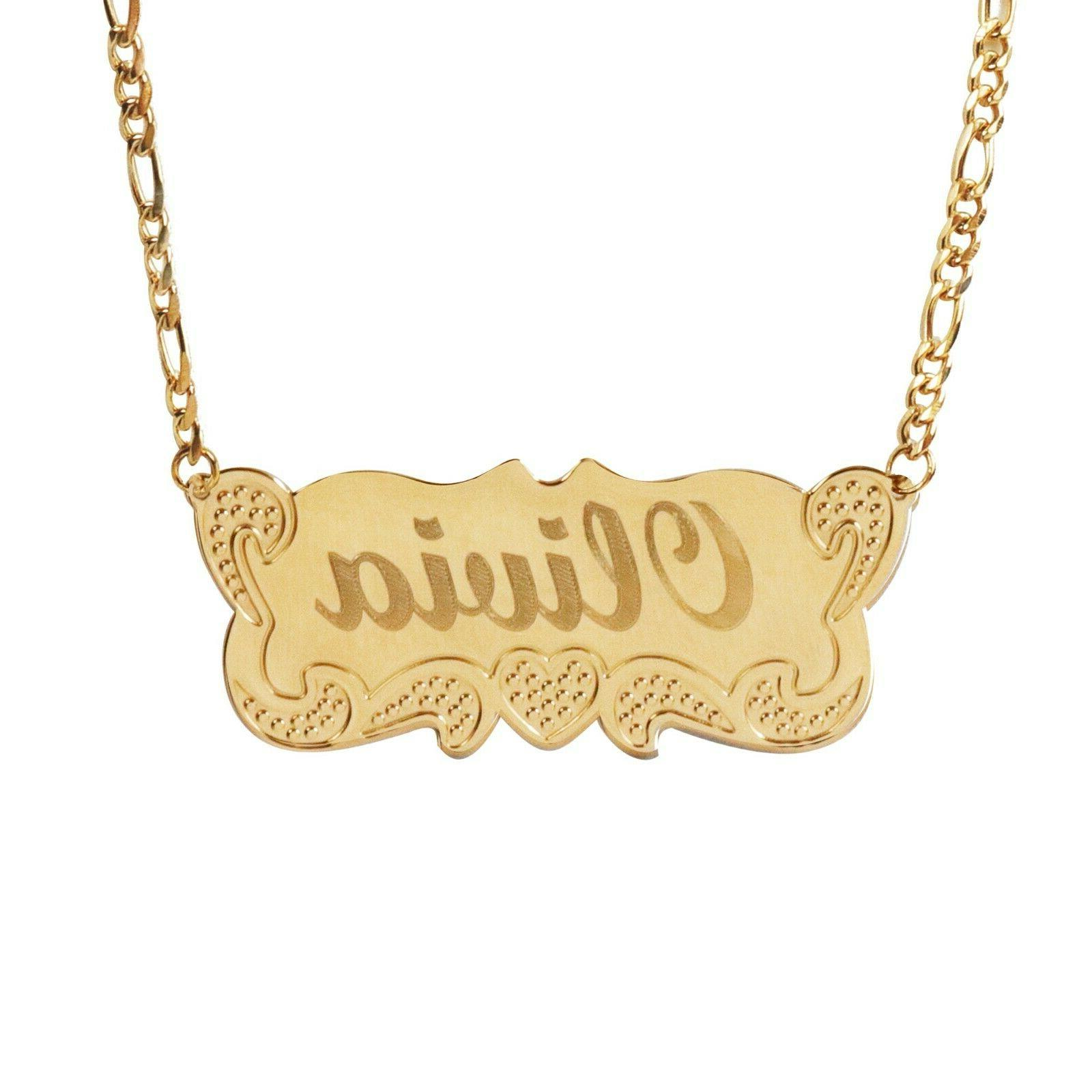 TINA&CO PLATED PLATE NECKLACE 14