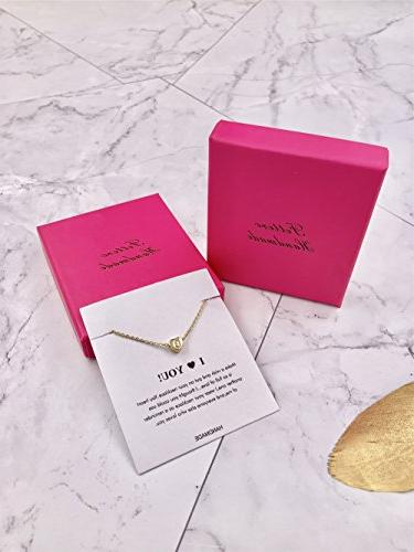 Tiny Gold Heart Necklace-14K Gold Dainty Personalized Letter Choker Gift Women Jewelry K