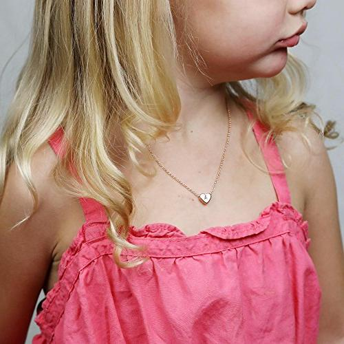 Tiny Necklace-14K Gold Filled Handmade Dainty Heart Choker Gift Women Jewelry
