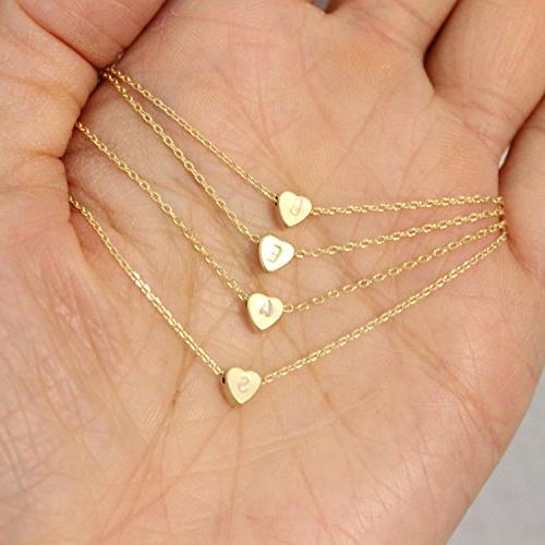 Tiny Gold Necklace-14K Filled Dainty Choker Gift for Women Child Jewelry Letter
