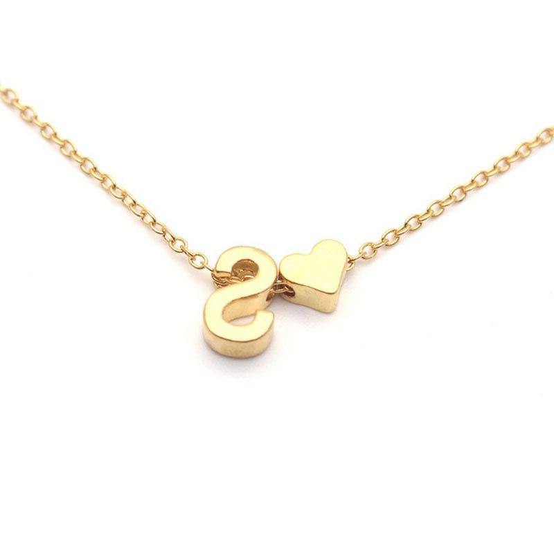 Tiny Initial <font><b>Name</b></font> <font><b>Necklace</b></font> 26 Letters Pendant Custom <font><b>Necklace</b></font> Collares Collier Jewelry XL217