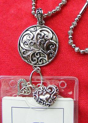 Tree Life Scroll Heart Charms Name Key Necklace Lanyard