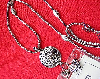 Tree Life Scroll Heart Name Tag Necklace