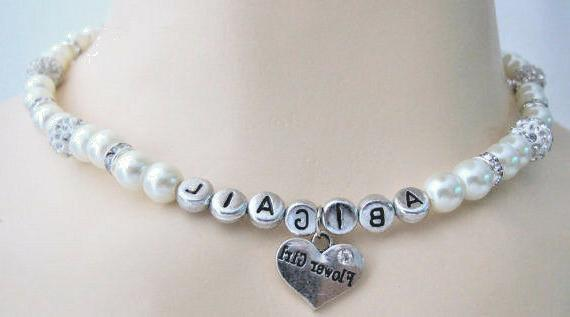 Wedding Flower Name Pearl Necklace Balls
